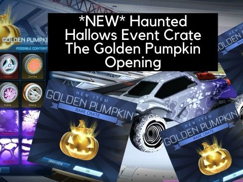 How To Get Golden Pumpkin In Rocket League Haunted Hallows Event