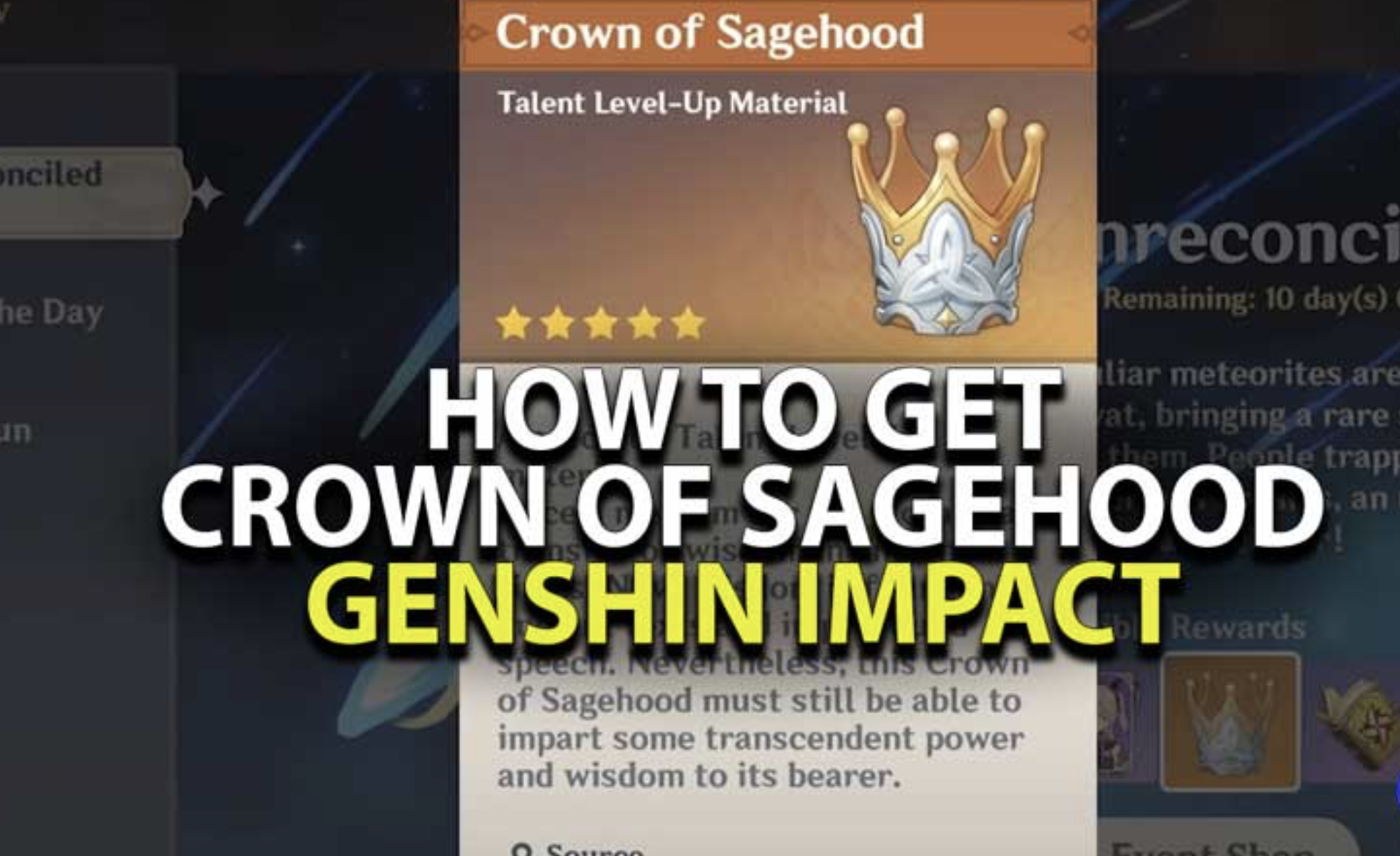 Genshin Impact Crown Of Sagehood