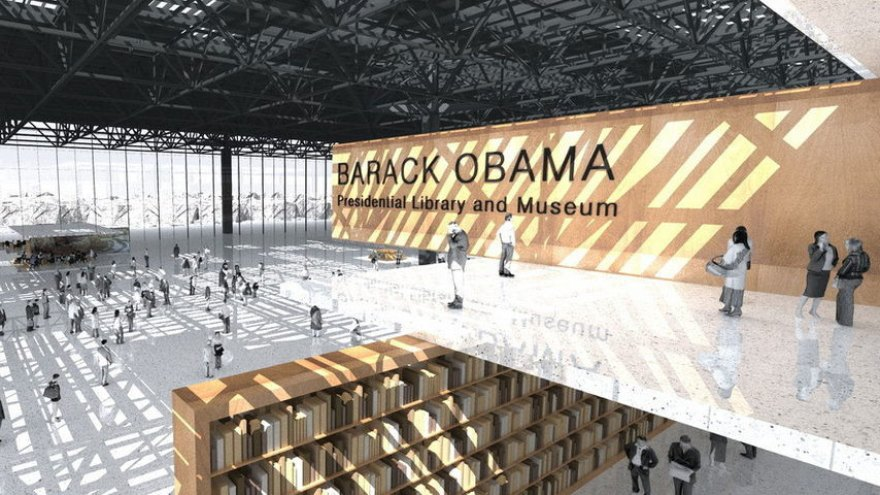 Obama's library construction